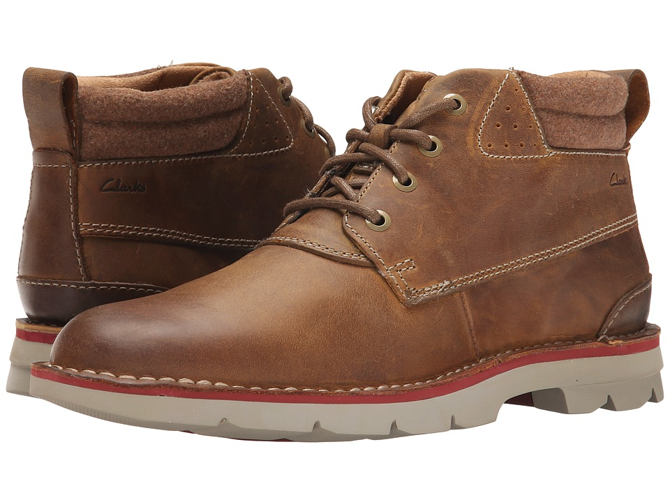 Clarks - Varick Hill (Cognac Leather) Men's Lace-up Boots