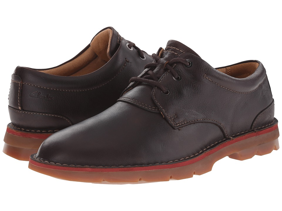 Clarks Varick Free (Dark Brown Tumbled Leather) Men