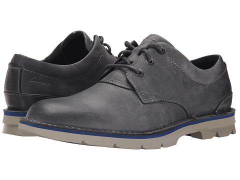 Clarks - Varick Free (Grey Leather) Men's Lace up casual Shoes