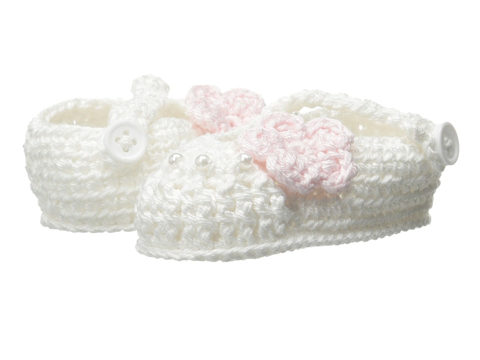 Jefferies Socks - Delicate Flower Bootie (Infant) (White) Girls Shoes