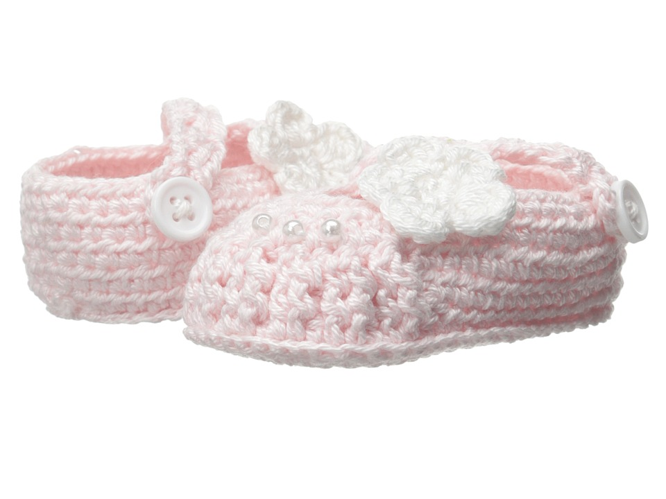 Jefferies Socks - Delicate Flower Bootie (Infant) (Pink) Girls Shoes