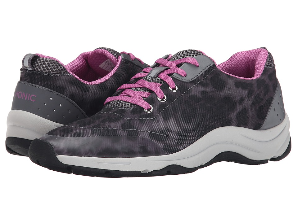 VIONIC - Action Tourney Lace Up (Grey Leopard) Women's Lace up casual Shoes