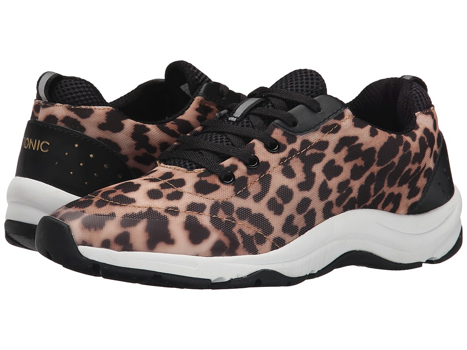 VIONIC - Action Tourney Lace Up (Tan Leopard) Women