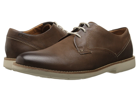 Clarks - Raspin Plan (Walnut Nubuck) Men's Shoes