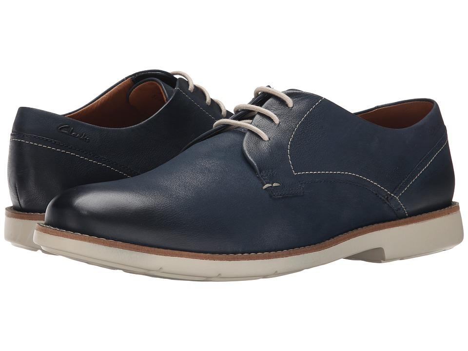 Clarks - Raspin Plan (Denim Blue Nubuck) Men's Shoes