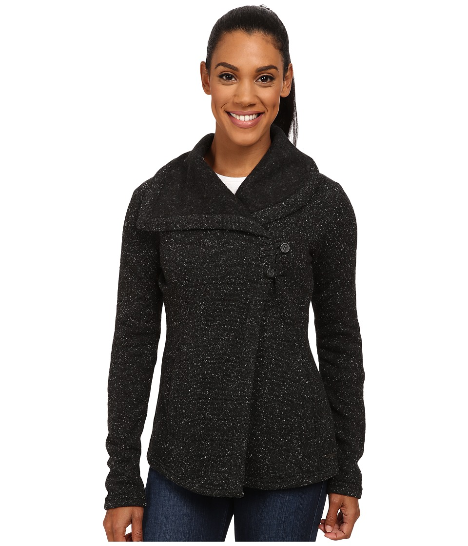 Smartwool - Odessa Lake Wrap (Charcoal Heather) Women's Long Sleeve Pullover
