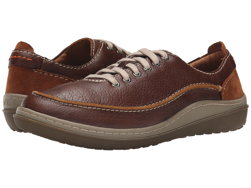 Clarks - Gait Mix (Tan Leather) Men's Lace up casual Shoes