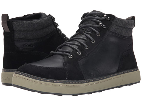 Clarks - Lorsen Top (Black Warm Lined) Men's Lace-up Boots