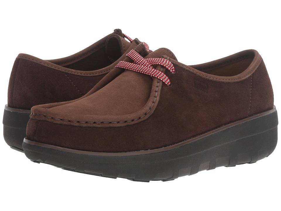 FitFlop - Loaff Lace Moc Up (Chocolate Brown) Women's Shoes