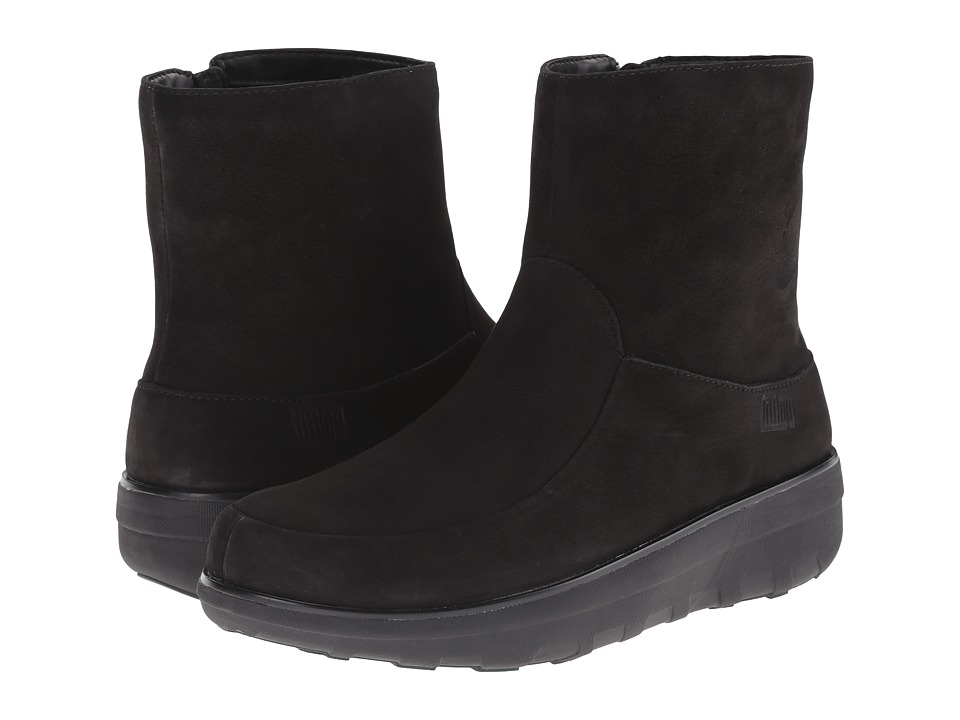 FitFlop - Loaff Shorty Zip Boot (Black) Women