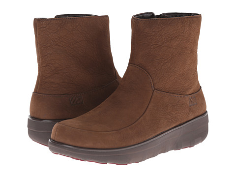 FitFlop - Loaff Shorty Zip Boot (Chocolate Brown) Women's Boots