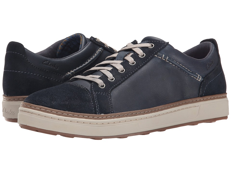 Clarks - Lorsen Edge (Navy Combi Leather) Men