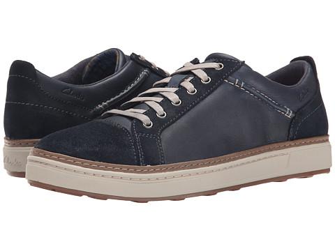 Clarks - Lorsen Edge (Navy Combi Leather) Men's Lace up casual Shoes