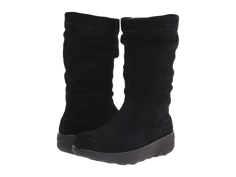 FitFlop - Loaff Slouchy Knee Boot (Black) Women's Boots