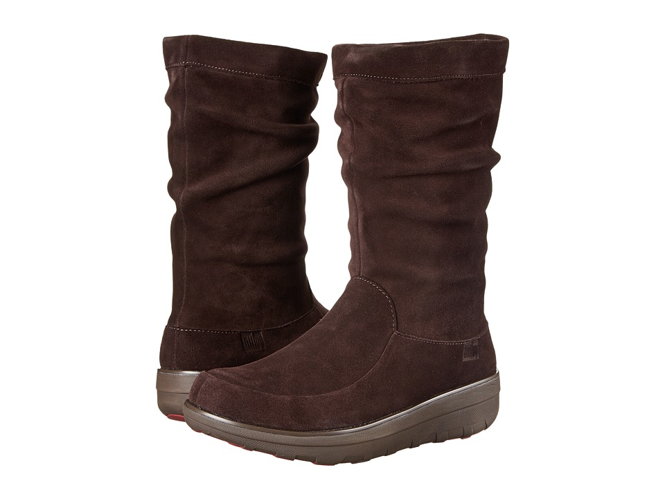 FitFlop Loaff Slouchy Knee Boot (Dark Brown) Women