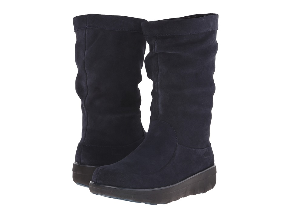 FitFlop - Loaff Slouchy Knee Boot (Supernavy) Women's Boots