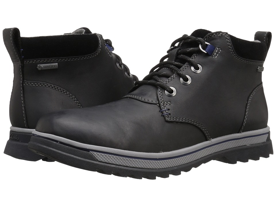 Clarks - RipwayHill GTX (Black Leather) Men