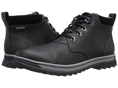 Clarks - RipwayHill GTX (Black Leather) Men's Lace-up Boots