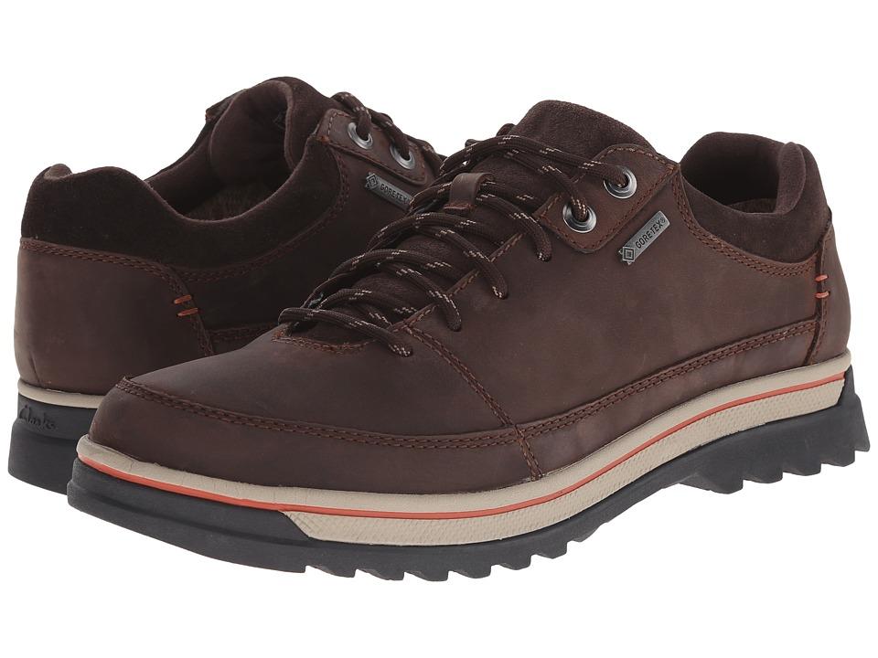 Clarks - RipwayEdge GTX (Dark Brown Leather) Men