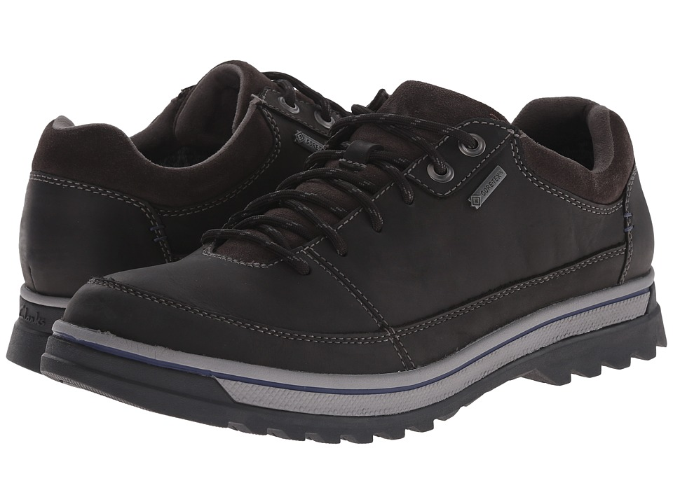 Clarks - RipwayEdge GTX (Black Leather) Men's Shoes