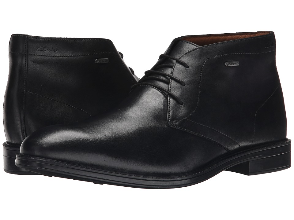 Clarks - Chilver Hi GTX (Black Leather) Men's Boots