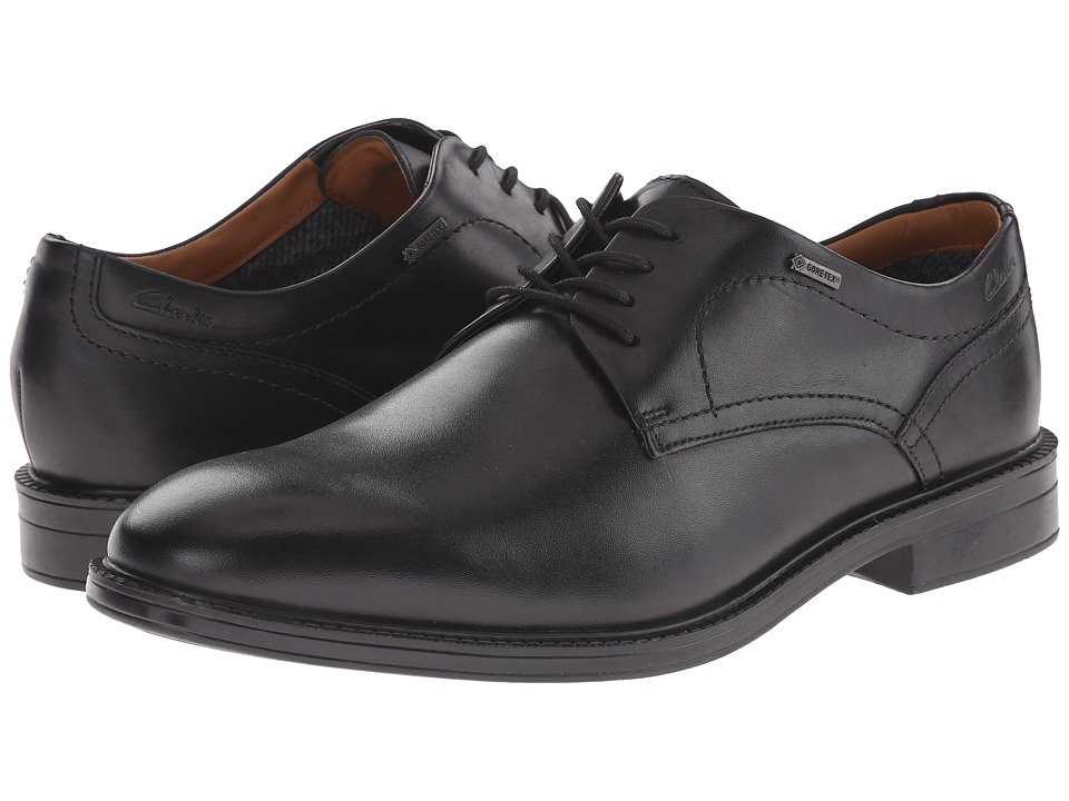 Clarks - ChilverWalk GTX (Black Leather) Men's Shoes