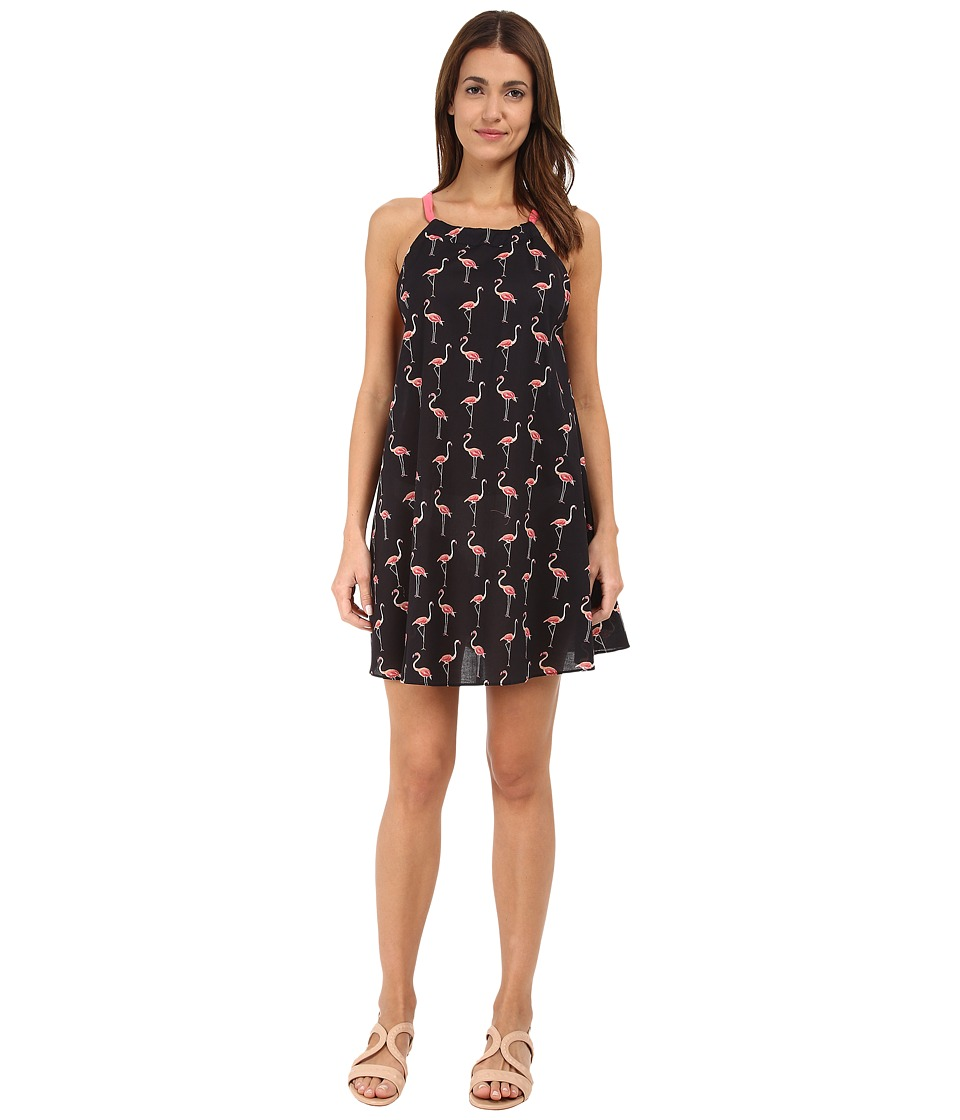 Kate Spade New York - Playa Flamingos #25 Adjustable Dress Cover-Up (Black) Women