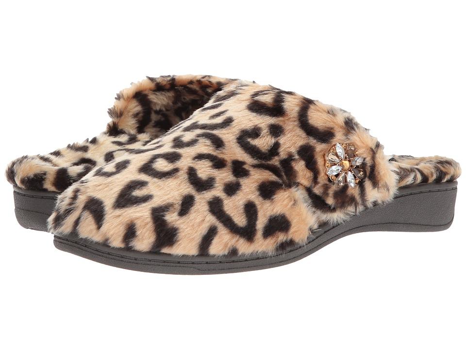 VIONIC - Gemma Luxe Slipper Hook (Tan Leopard) Women's Slip on Shoes