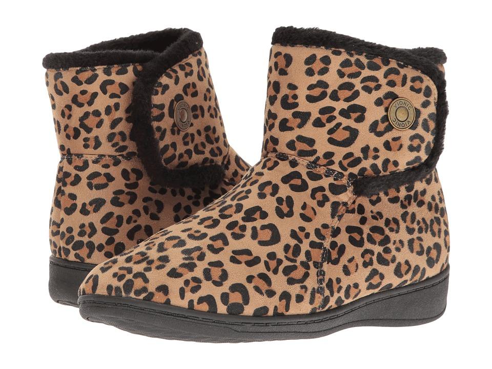 VIONIC - Indulge Vanah Slipper (Tan Leopard) Women's Slippers