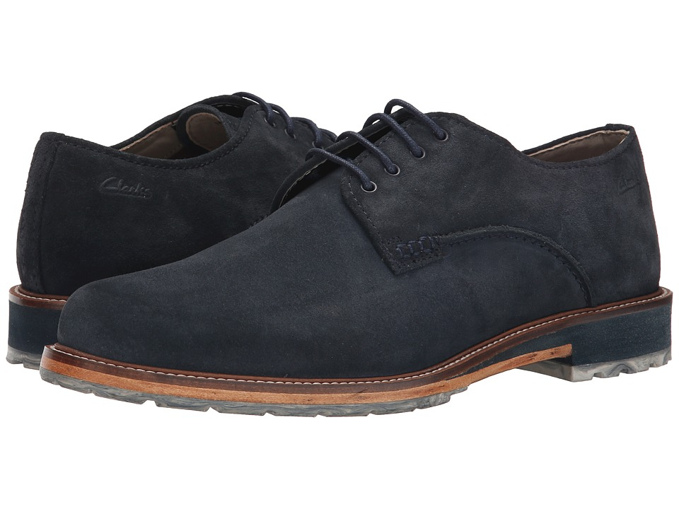 Clarks - Arton Walk (Navy Suede) Men's Lace up casual Shoes