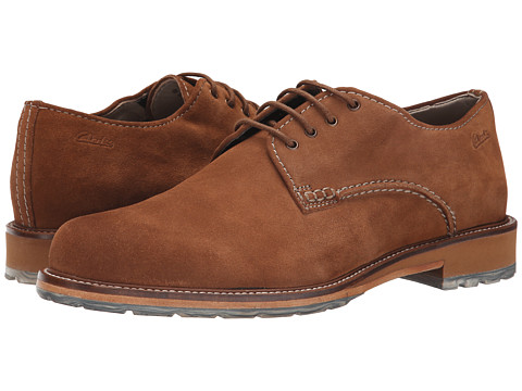 Clarks - Arton Walk (Tobacco Suede) Men's Lace up casual Shoes