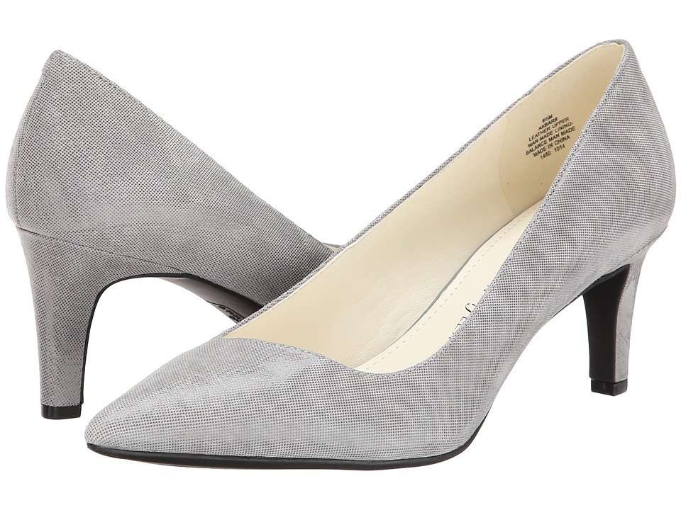 Anne Klein Barb (Grey Twinkle Leather) High Heels
