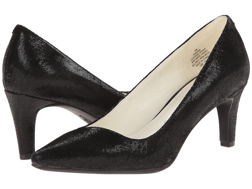 Anne Klein Barb (Black Twinkle Leather) High Heels