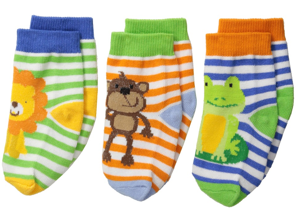 Jefferies Socks - Jungle 3-Pack (Infant/Toddler) (Multi) Boys Shoes