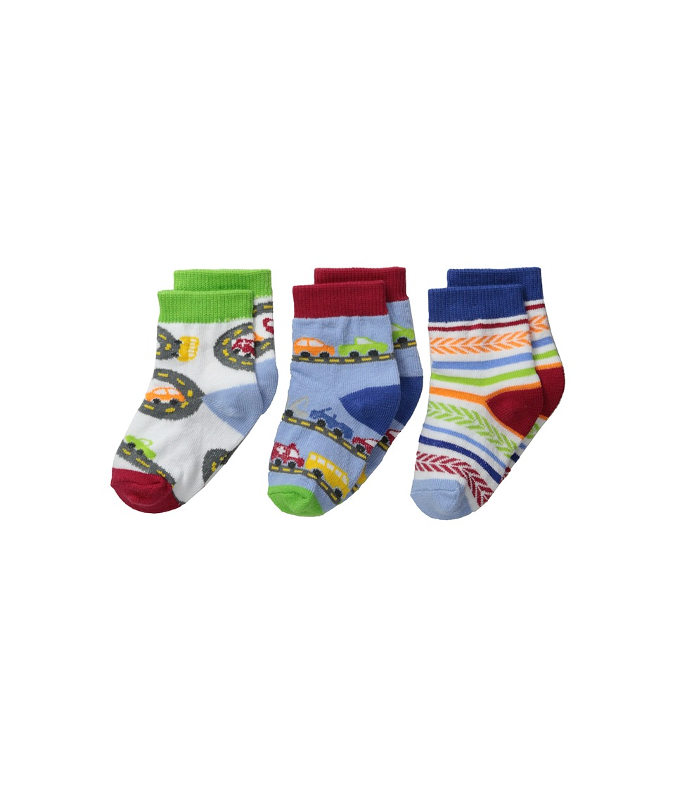 Jefferies Socks - Vehicles 3-Pack (Infant/Toddler) (Speedy) Boys Shoes