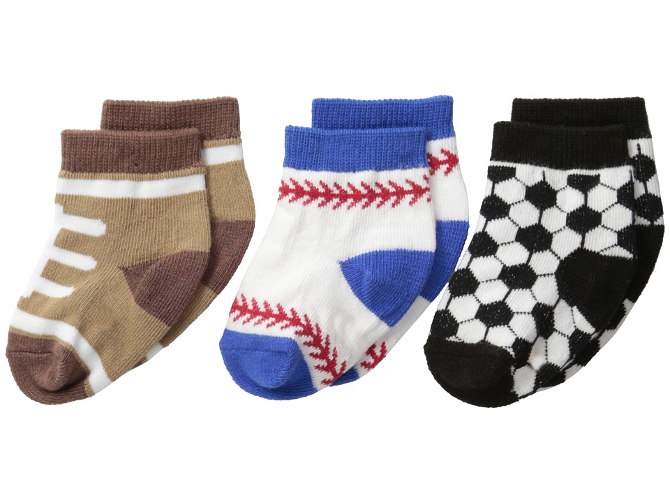Jefferies Socks - Playtime Sports 3-Pack (Infant/Toddler) (Sport) Boys Shoes