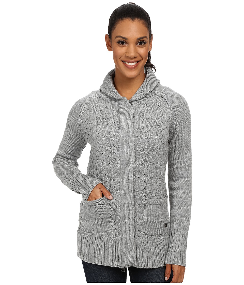 Smartwool - Hesperus Full Zip (Silver Gray Heather) Women's Sweater