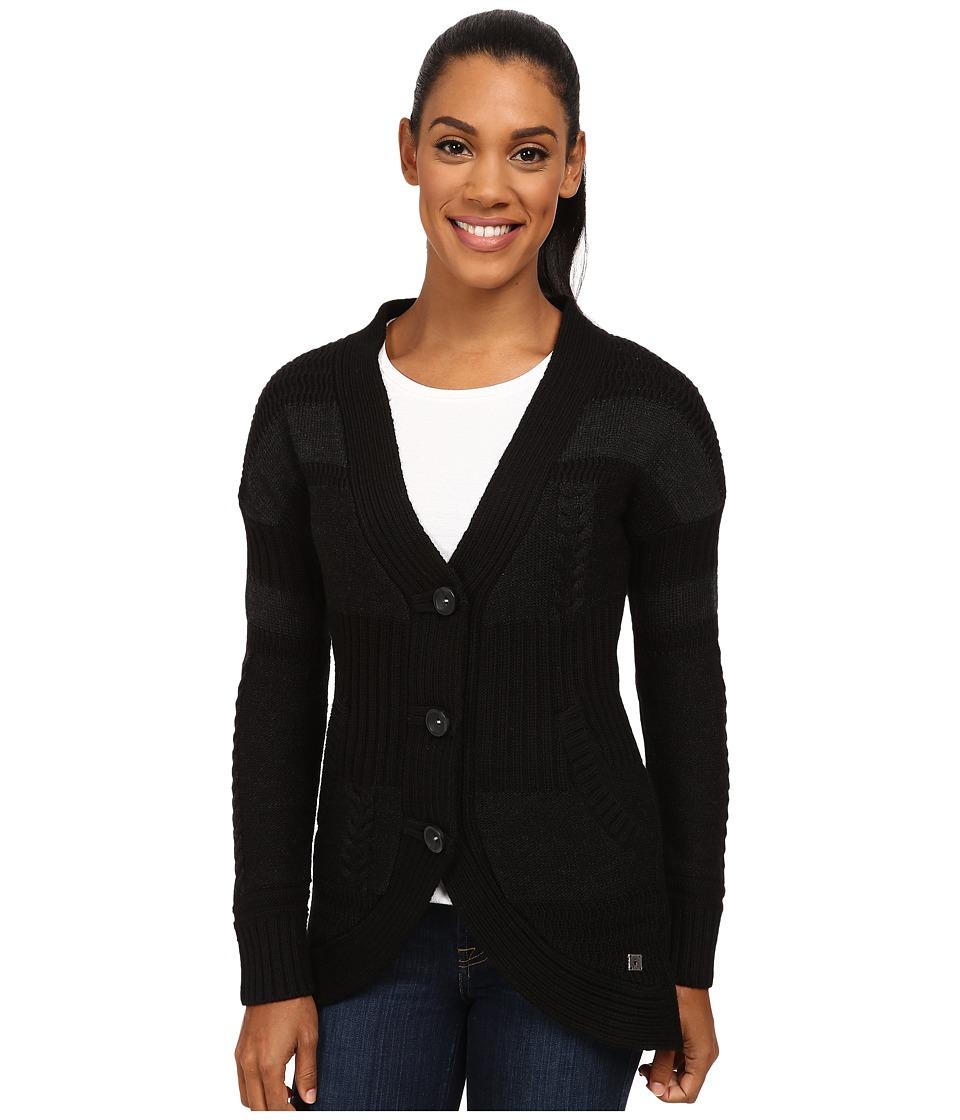 Smartwool - Meran Long Cardigan (Charcoal Heather) Women's Sweater