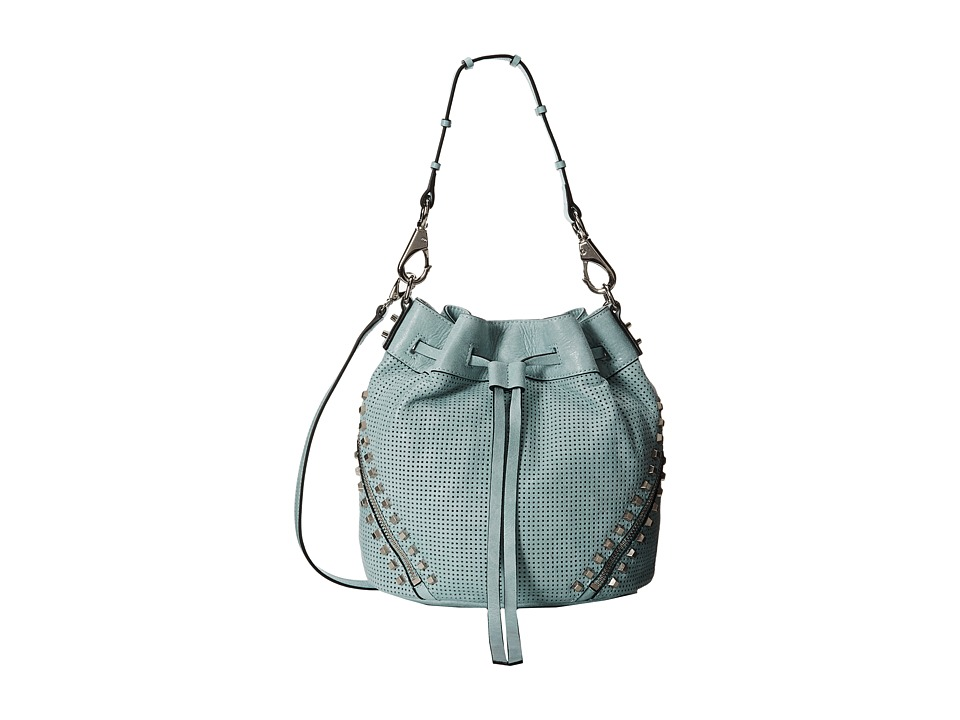 She + Lo - Make Your Mark Drawstring (Mint Perf) Drawstring Handbags