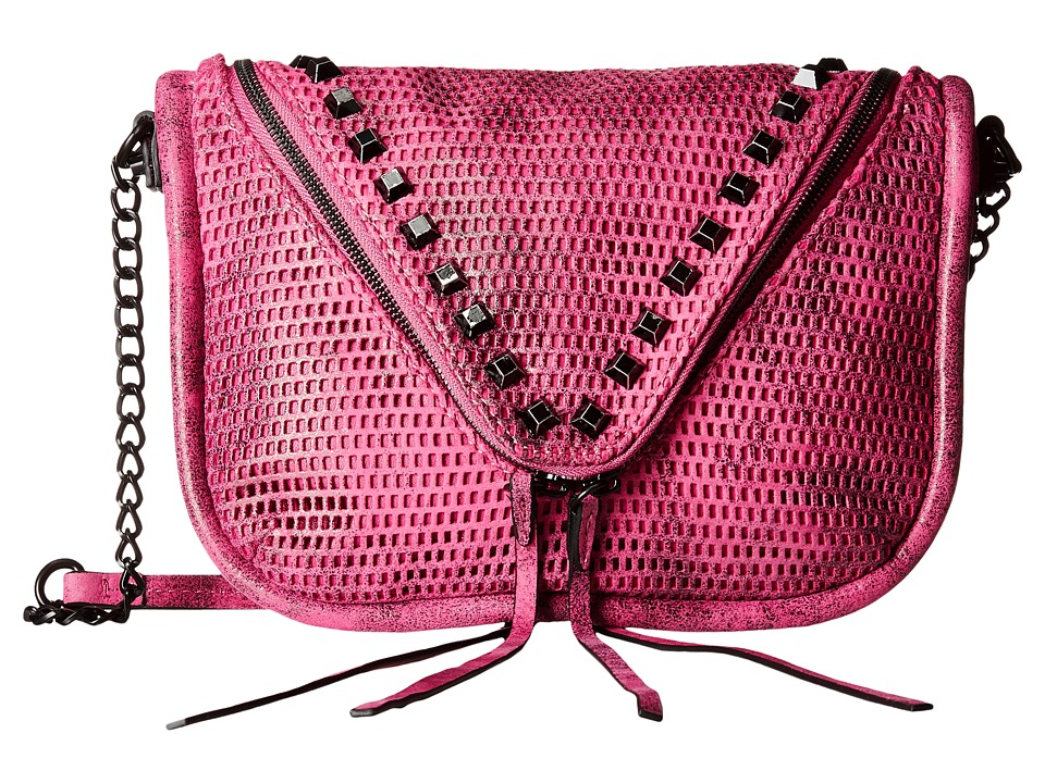 She + Lo - Next Chapter Zip Crossbody (Fuchsia/Black Perf) Cross Body Handbags