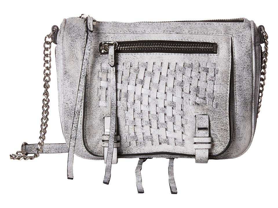 She + Lo - Take A Chance Zip Crossbody (Black/White) Cross Body Handbags