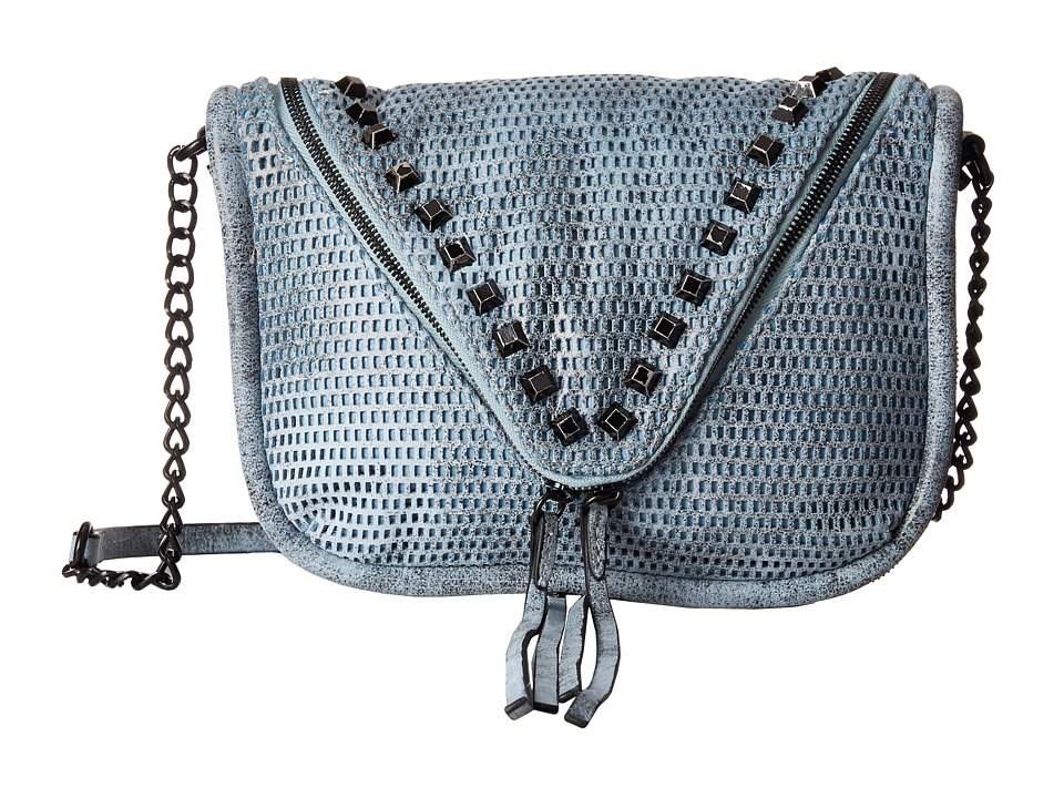 She + Lo - Next Chapter Zip Crossbody (Blue/Black Perf) Cross Body Handbags