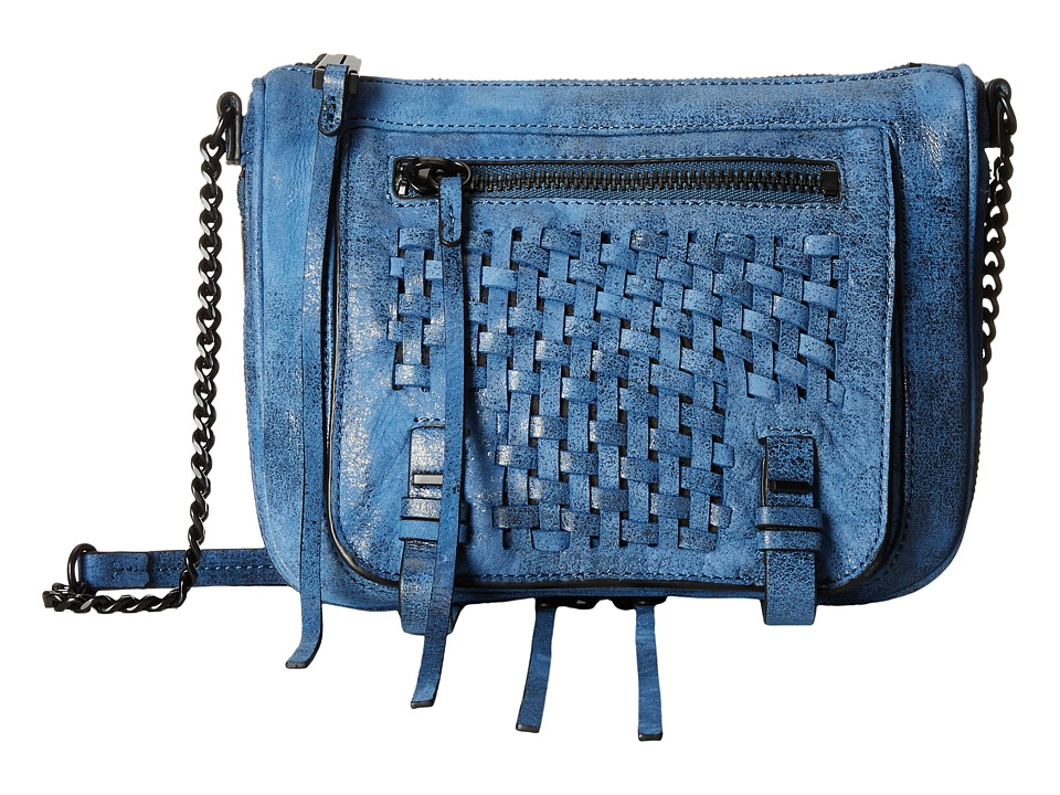 She + Lo - Take A Chance Zip Crossbody (Cobalt/Black) Cross Body Handbags