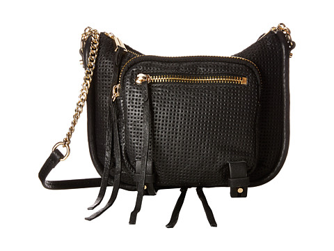 She + Lo - Rise Above Zip Crossbody (Black Perf) Cross Body Handbags