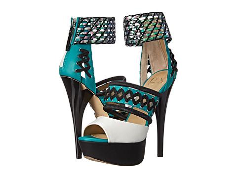 GX By Gwen Stefani - Dreamy (Black/Black/Green) High Heels