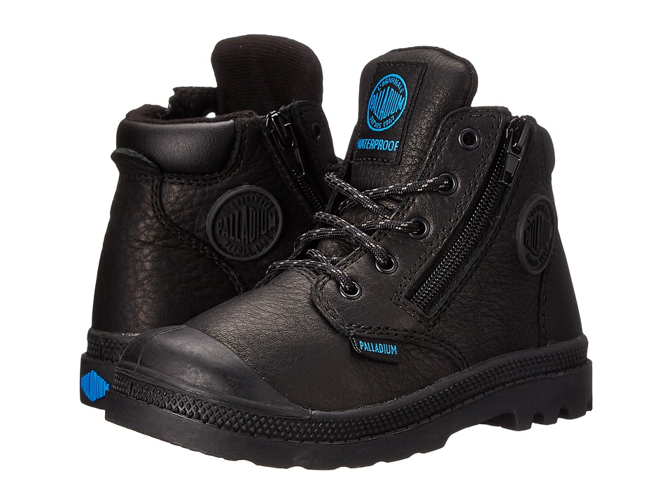 Palladium Kids - Pampa Hi Cuff Waterproof (Toddler) (Black) Boy's Shoes