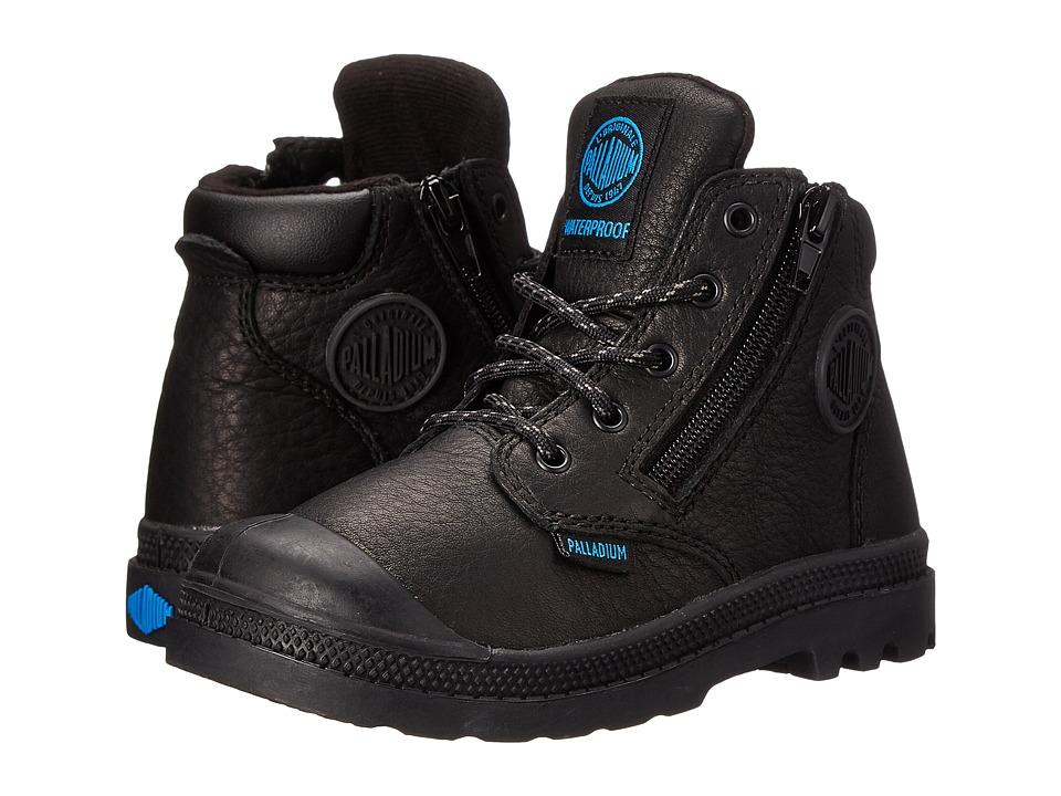 Palladium Kids - Pampa Hi Cuff Waterproof (Toddler) (Black) Boy's Shoes