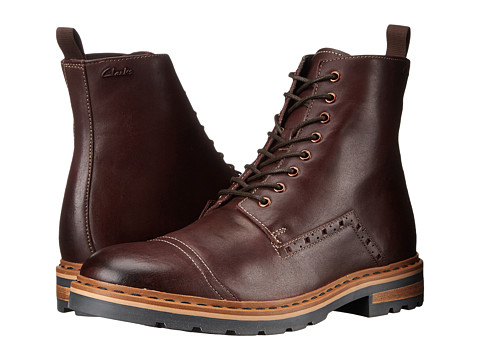 Clarks - Dargo Rise (Chestnut Leather) Men's Lace-up Boots