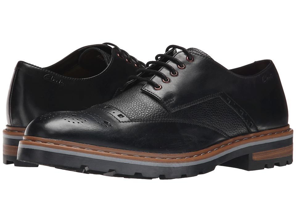Clarks - Dargo Limit (Black Combi Leather) Men