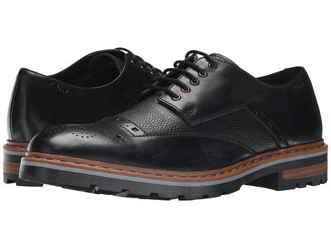 Clarks - Dargo Limit (Black Combi Leather) Men's Lace up casual Shoes